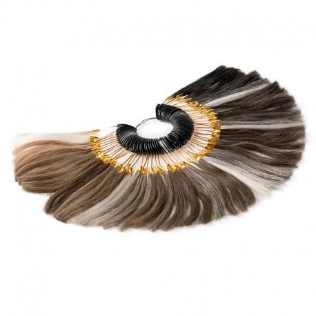 Carta de colores del sistema capilar | Muestra de cabello de peluquín para combinar con el color de tu cabello