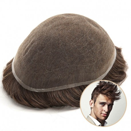 Thor Men's Lace Toupee | Full French Lace Base | Suitable for Humid Climate