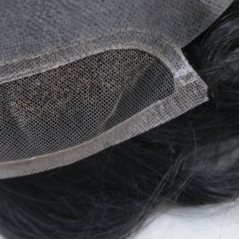 Simois Hair System for Men | Full Lace in Center with 1'' Thin Skin Around and 1/2'' Lace in the Front | Hollywood Style