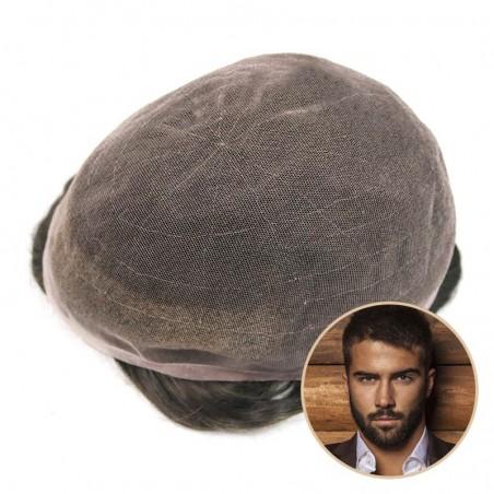 Hades Hair Unit for Men Online | Full German Lace | Medium Length Hair Style for Men
