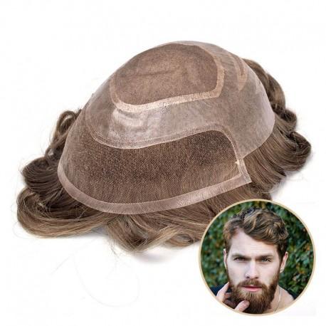 Piezas de pelo de hombre Versalite para boda | Mono fino con cortes de PU | Estilo popular