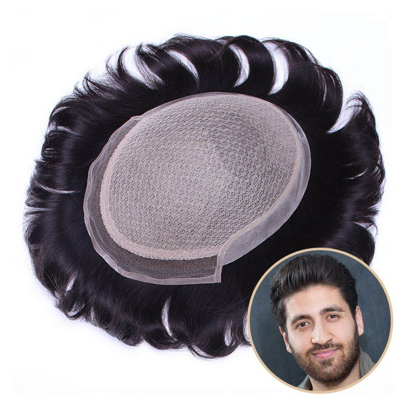 Prometheus Bald Men Hair Pieces Online | Silk Base with Front Lace | luxurious Style