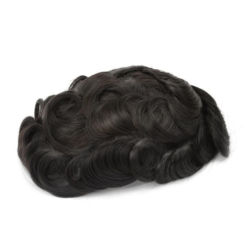 Hades Hair Unit for Men Online   Full German Lace   Medium Length Hair Style for Men