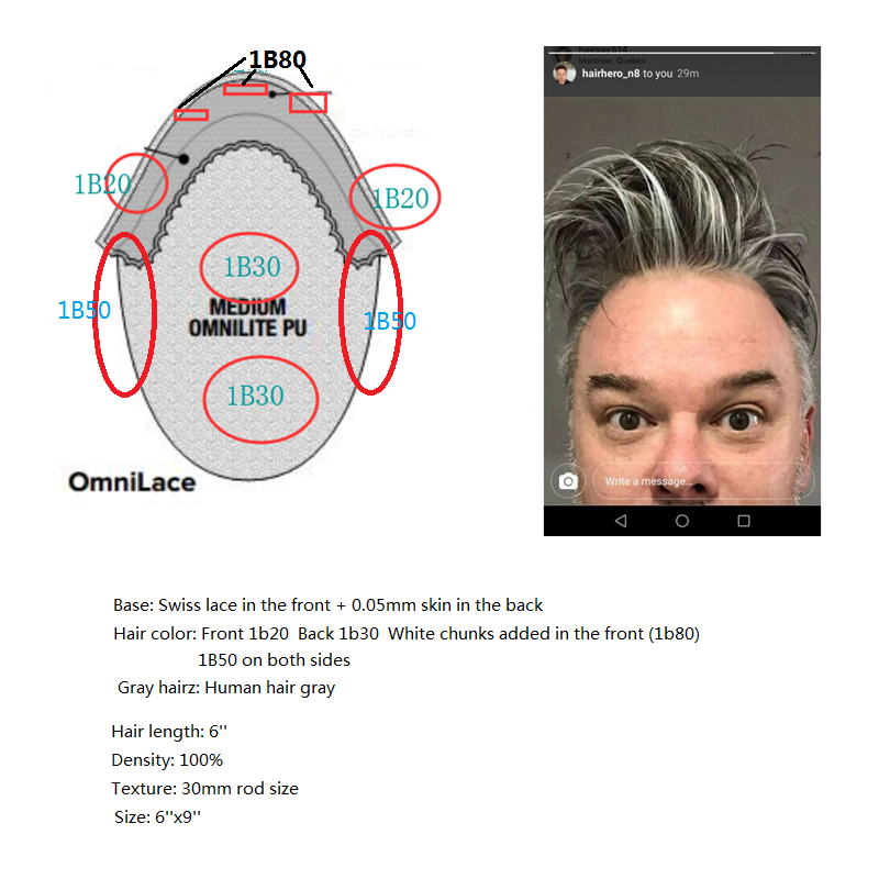 Custom Made Hair System for HairHero