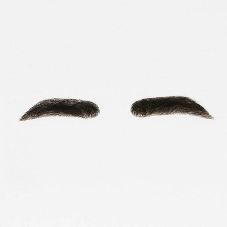Pelucas de cejas para hombres | Pegamento de cabello humano en cejas falsas para hombres