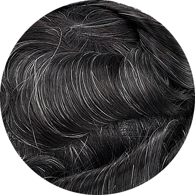 1B10 - Off Black with 10% Gray Hair