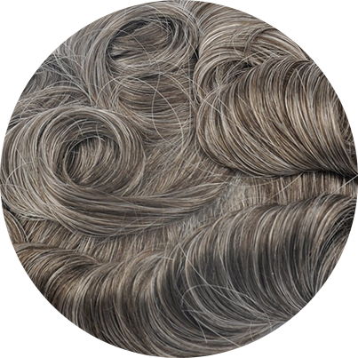 740 - Lightest Brown with 40% Gray Hair