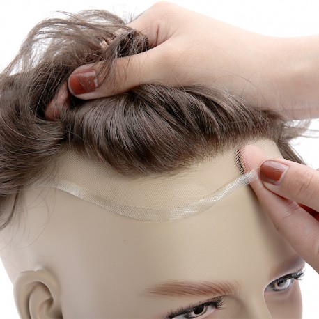 Knots are perfectly bleached providing you a perfect hairline