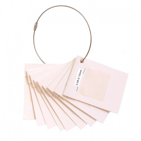 This hair system Skin Sample Ring includes 9 skin samples in different thicknesses